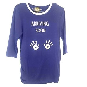 """""""Arriving soon"""" Maternity top size M"""